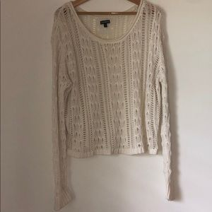 Express off white light sweater